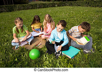 Children outdoors