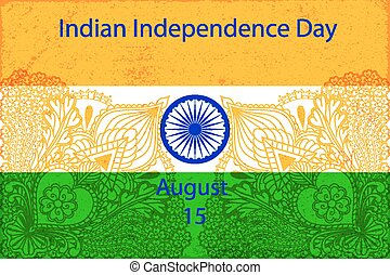 Independence Day of India concept greeting poster. National...