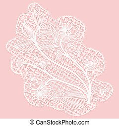 Lace flower. Single tracery element for design. Vector...