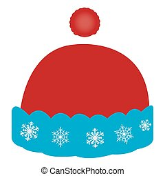 Isolated christmas hat on a white background, Vector...