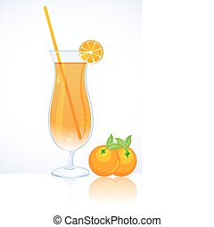 tangy orange juice - illustration of tangy orange juice