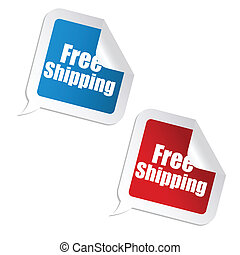 free shipping sticker - illustration of free shipping...