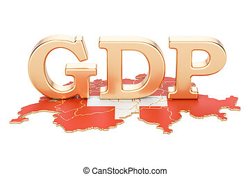 gross domestic product GDP of Switzerland concept, 3D...