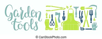 Garden tool set - Vector set of gardening tools. Agriculture...