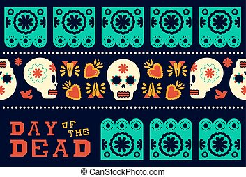 Day of the dead modern skull pattern decoration - Day of the...