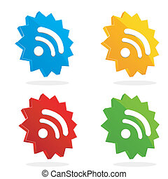 set of rss icons