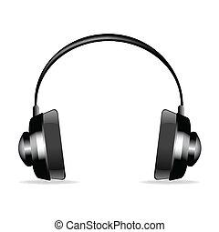 isolated headphone - illustration on headphone on isolated...