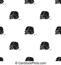 Skull single icon in black style.Skull, vector symbol stock...