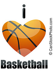 i love basketball - illustration of i love basketball