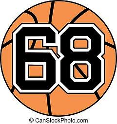 68 basket symbol - Creative design of 68 basket symbol