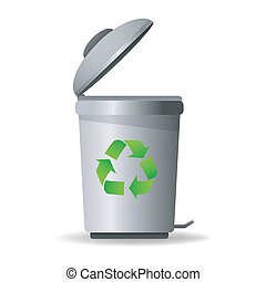 recycle bin - illustration of recycle bin