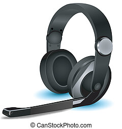 isolated headphone - illustration of headphone on isolated...
