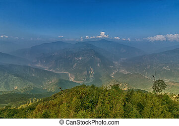 Ramitey view point - Sikkim, India. From this view point,...
