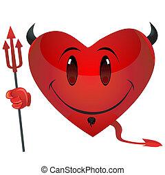 smiley devil heart