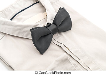 shirt with bow tie on white background