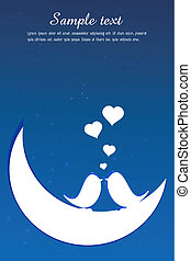 valentine card with sample text - illustration of valentine...