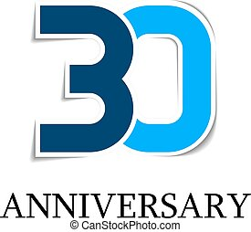 30 anniversary sticker number icon - illustration for the...