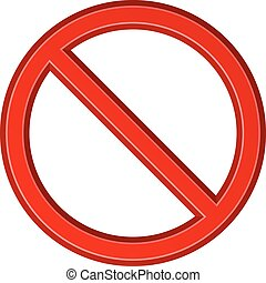 red blank ban sign - illustration for the web
