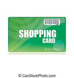 shopping card - illustration of shopping card on isolated...