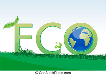 eco friendly - illustration of eco friendly