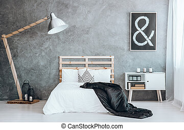 Cushion with geometric pattern - Small decorative cushion...