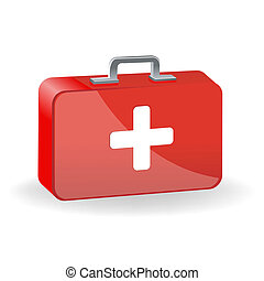 red cross - illustration of red cross with white background