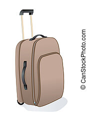 trolley bag - illustration of trolley bag with white...