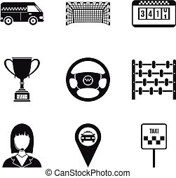 Chauffeur icons set, simple style - Chauffeur icons set....