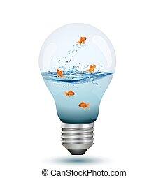 bulb as fish tank