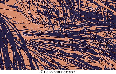 Nature Unusual Poster Design - Abstract Color Diagonal...