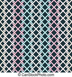 Seamless pattern of colored intersecting segments - Seamless...