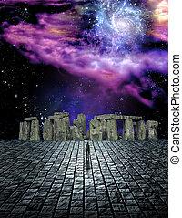 hombre, Antes, piedra, estructura