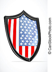 usa shield - illustration of usa shield on white background