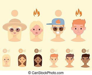 Beach summer suntan characters vector lifestyle people...
