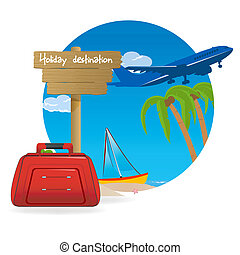 holiday destination - illustration of holiday destination...