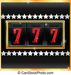 lucky number in slot machine - illustration of lucky number...