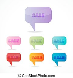 colorful sale icons