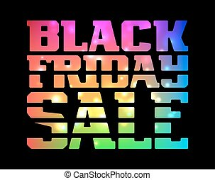 Black Friday Sale promotion poster with colorful lettering