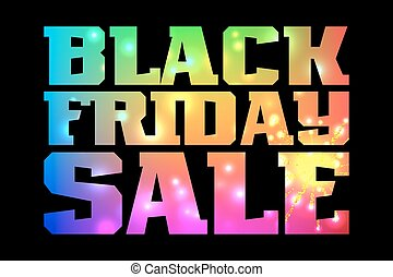Black Friday Sale promotion poster with colorful lettering...