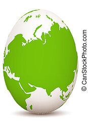 global egg - illustration of global egg on white background