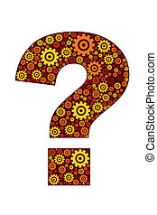 question mark icon - illustration of question mark icon on...