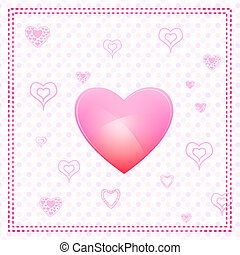 valentine card - illustration of valentine card with heart