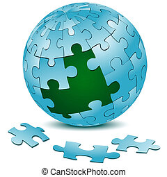 jigsaw puzzle on earth