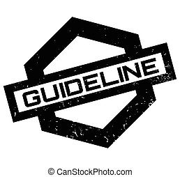 Guideline rubber stamp. Grunge design with dust scratches....