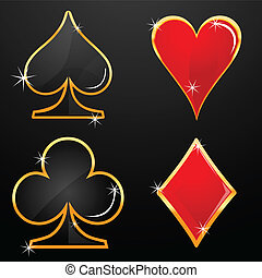 casino icons - illustration of casino icons