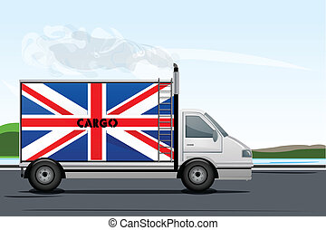 illustration of England lorry