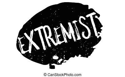 Extremist rubber stamp. Grunge design with dust scratches....