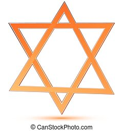 star of david - illustartion of star of david on white...