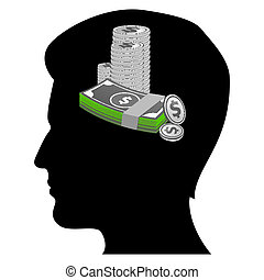 money minded businessman - illustration of money minded...