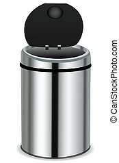 dustbin - illustration of dust bin on white background